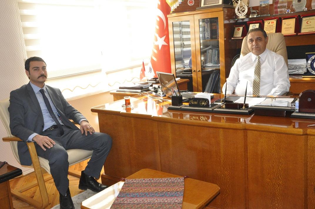 ALBAYRAK'TAN BAŞKAN ÇİFTÇİ'YE ZİYARET