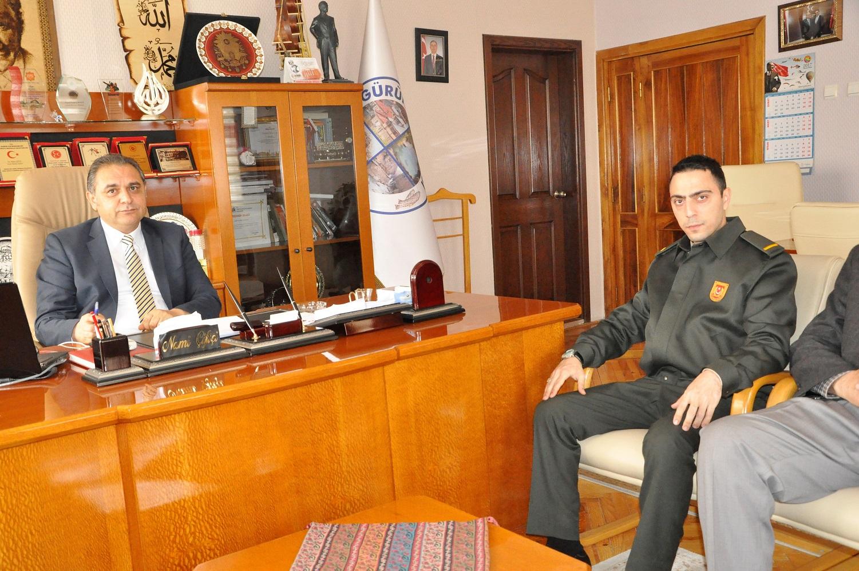 ASKERLİK ŞUBESİ BAŞKANI'NDAN BAŞKAN ÇİFTÇİ'YE ZİYARET