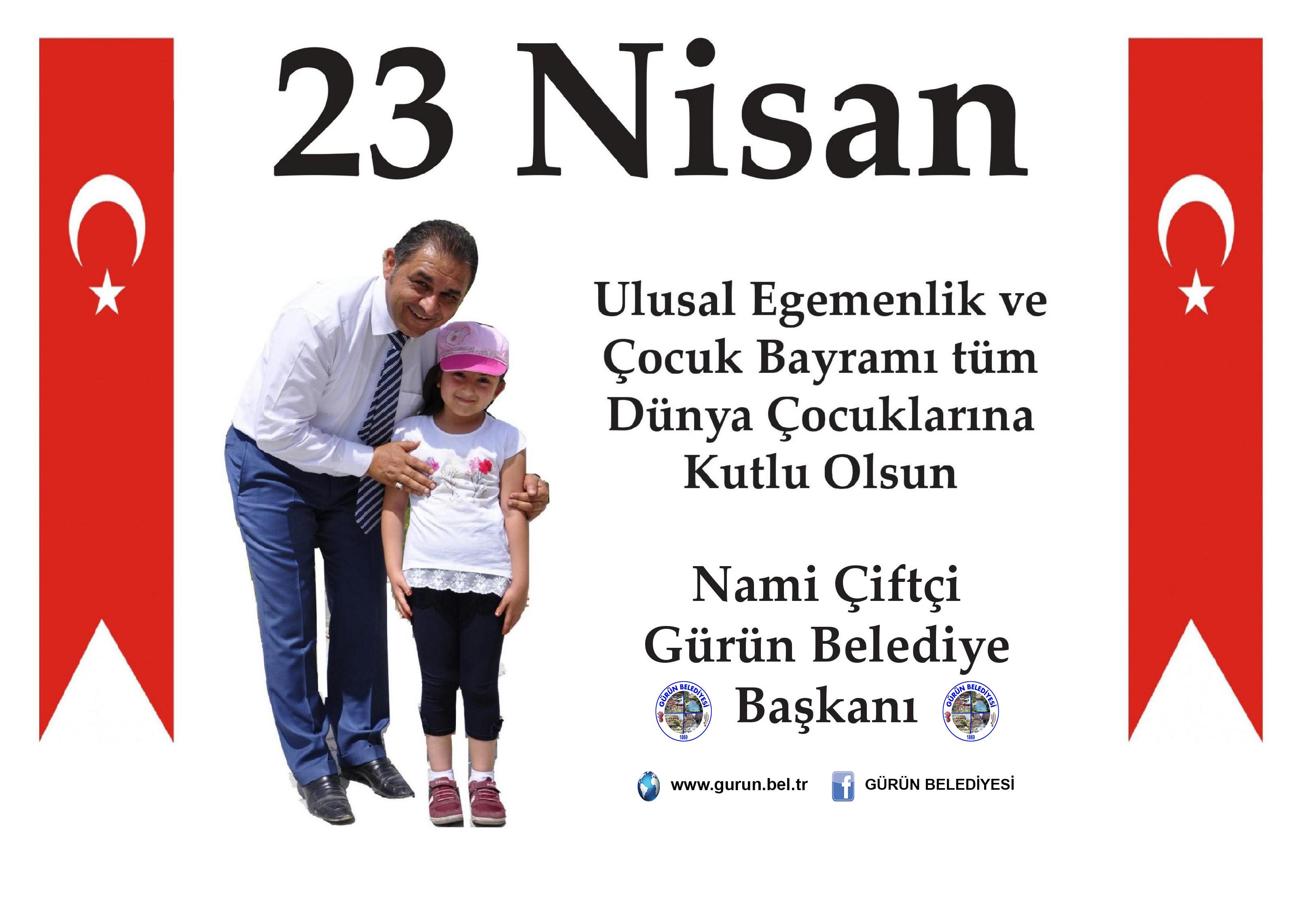 """BAŞKAN ÇİFTÇİ: """"23 NİSAN ÇOCUKLARIMIZ İÇİN ŞENLİK, MİLLETİMİZ İÇİN GURUR GÜNÜDÜR"""